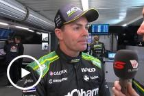 Lowndes discusses last-lap position swap