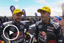 Top three duos interviewed post-race