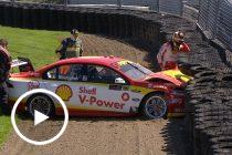 McLaughlin crashes in Pukekohe Practice 2