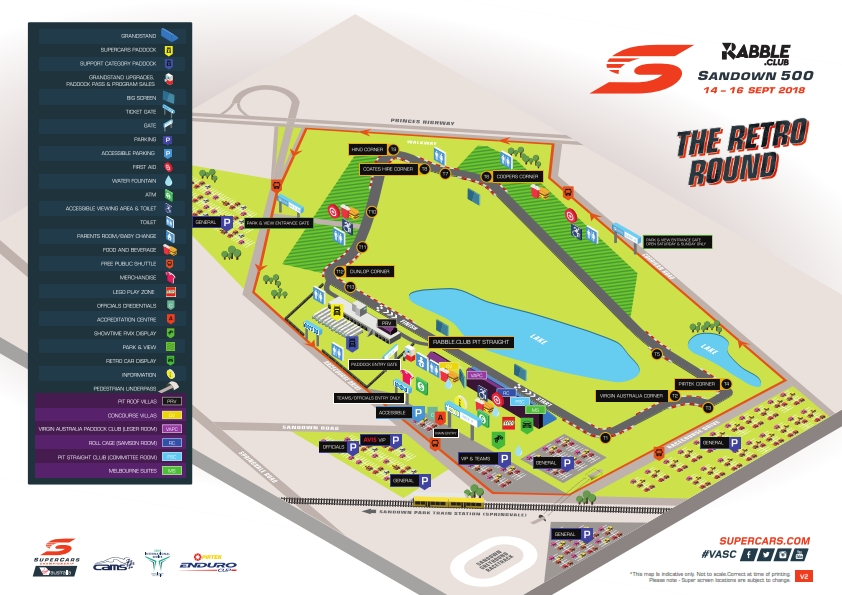 Sandown Track Map V1