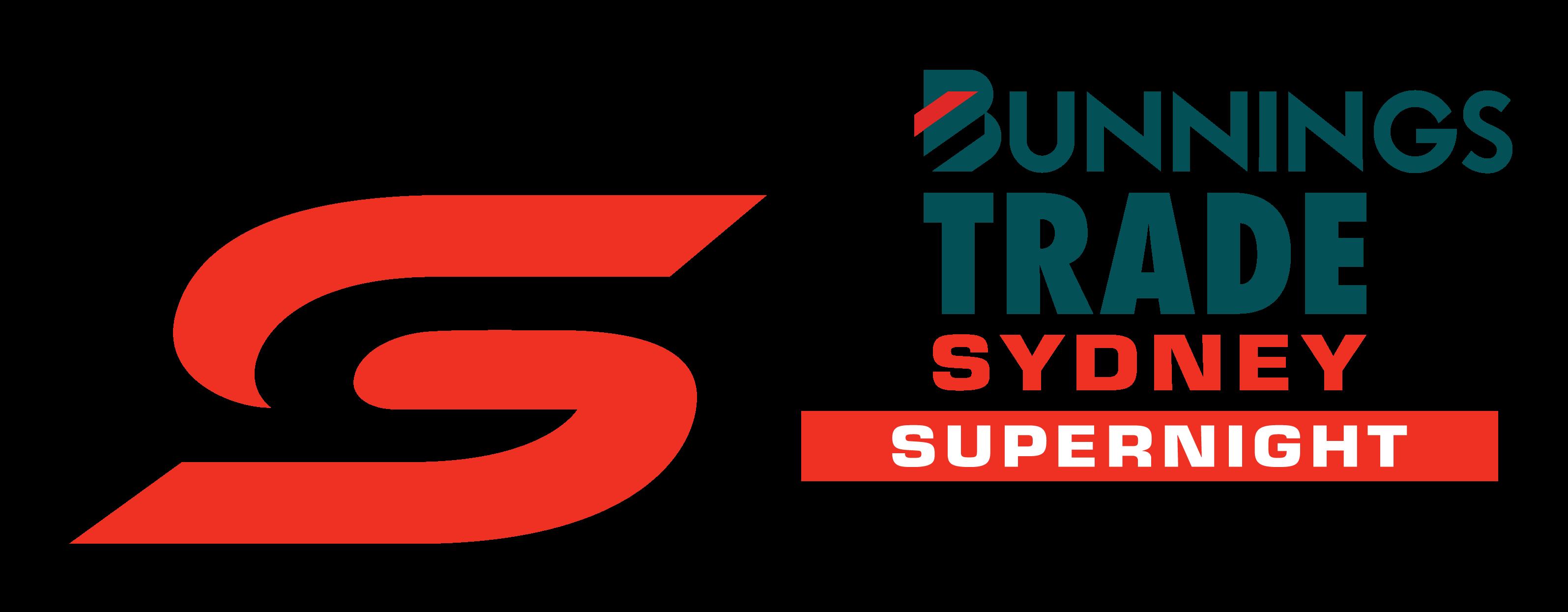 V8 Supercars - Bunnings Trade Sydney SuperNight logo