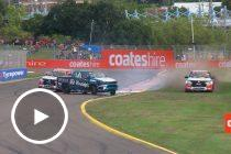 Wild 360 spin in SuperUtes race