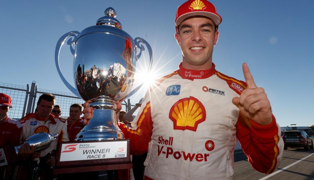 Scott McLaughlin Race 8 2017 Perth SuperSprint