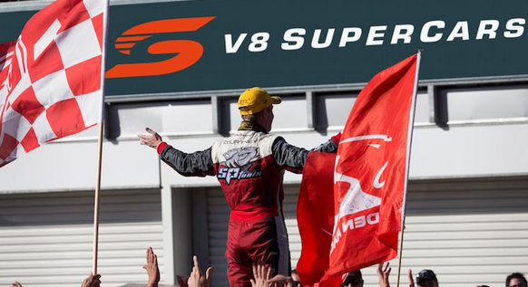 Supercars undertook a two-stage rebranding - introducing the red S before dropping the V8