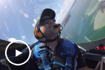 Kelly flies over Newcastle with Matt Hall