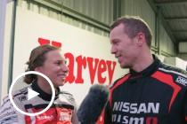 Simona takes Peter Siddle for a lap