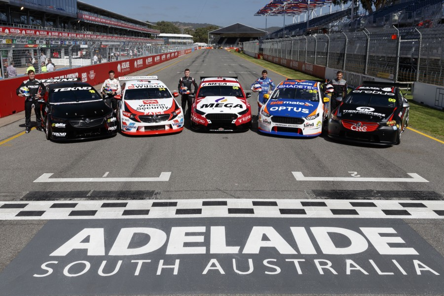 Rookies Jack Le Brocq, James Golding, Richie Stanaway, Todd Hazelwood and Anton De Pasquale line up this weekend for there first race as full time drivers in the Virgin Australia Supercars Championship during the Adelaide 500, Adelaide, South Australia, Australia, February 28, 2018.