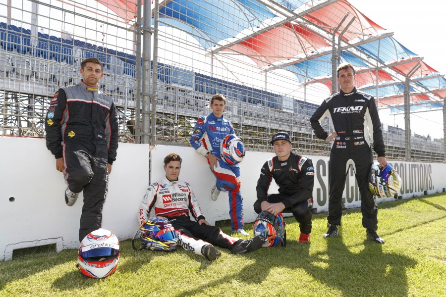 Rookies Anton De Pasquale, James Golding, Todd Hazelwood, Richie Stanaway and Jack Le Brocq  line up this weekend for there first race as full time drivers in the Virgin Australia Supercars Championship during the Adelaide 500, Adelaide, South Australia, Australia, February 28, 2018.