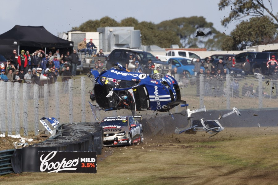 Todd Hazelwood's Turn 6 crash in the co-driver qualifying sprint last year