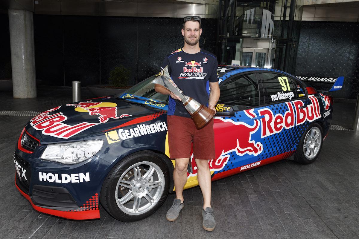 Shane van Gisbergen in Sydney after winning the 2016 Supercars Championship, Australia on December 05, 2016