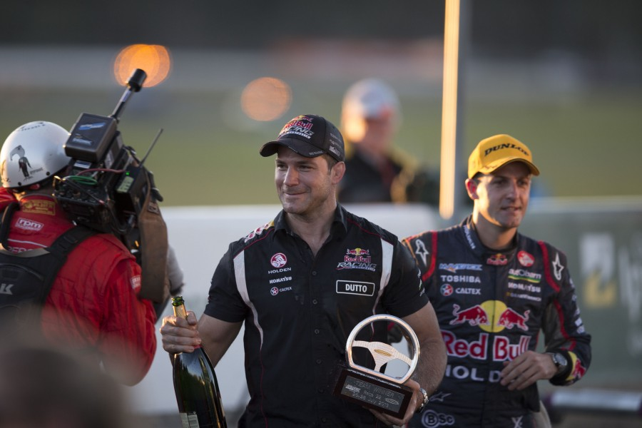 Dutton and Whincup, pictured in 2013