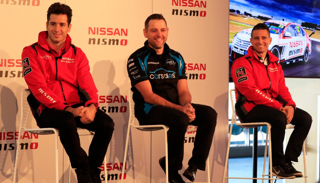 Rick Kelly, Todd Kelly, Michael Caruso - Nissan announcement - 2016 Wilson Security Sandown 500