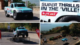 All angles: Super Truck takes to the sky above Townsville