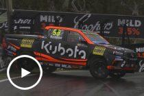 SuperUte wipes the wall at The Esses