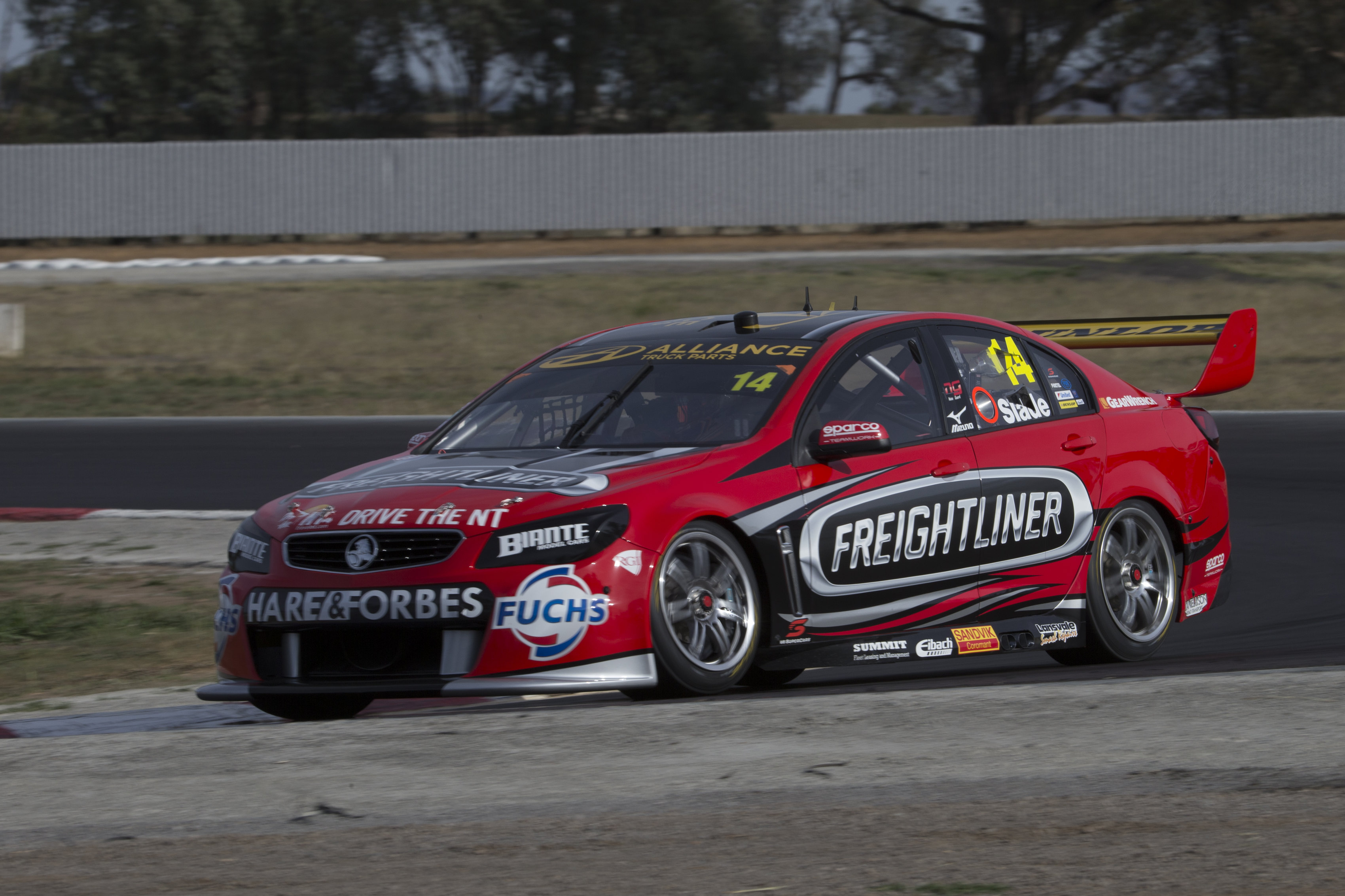 Tim Slade during the V8 Supercars test day, in Winton, Australia, February 22, 2016.