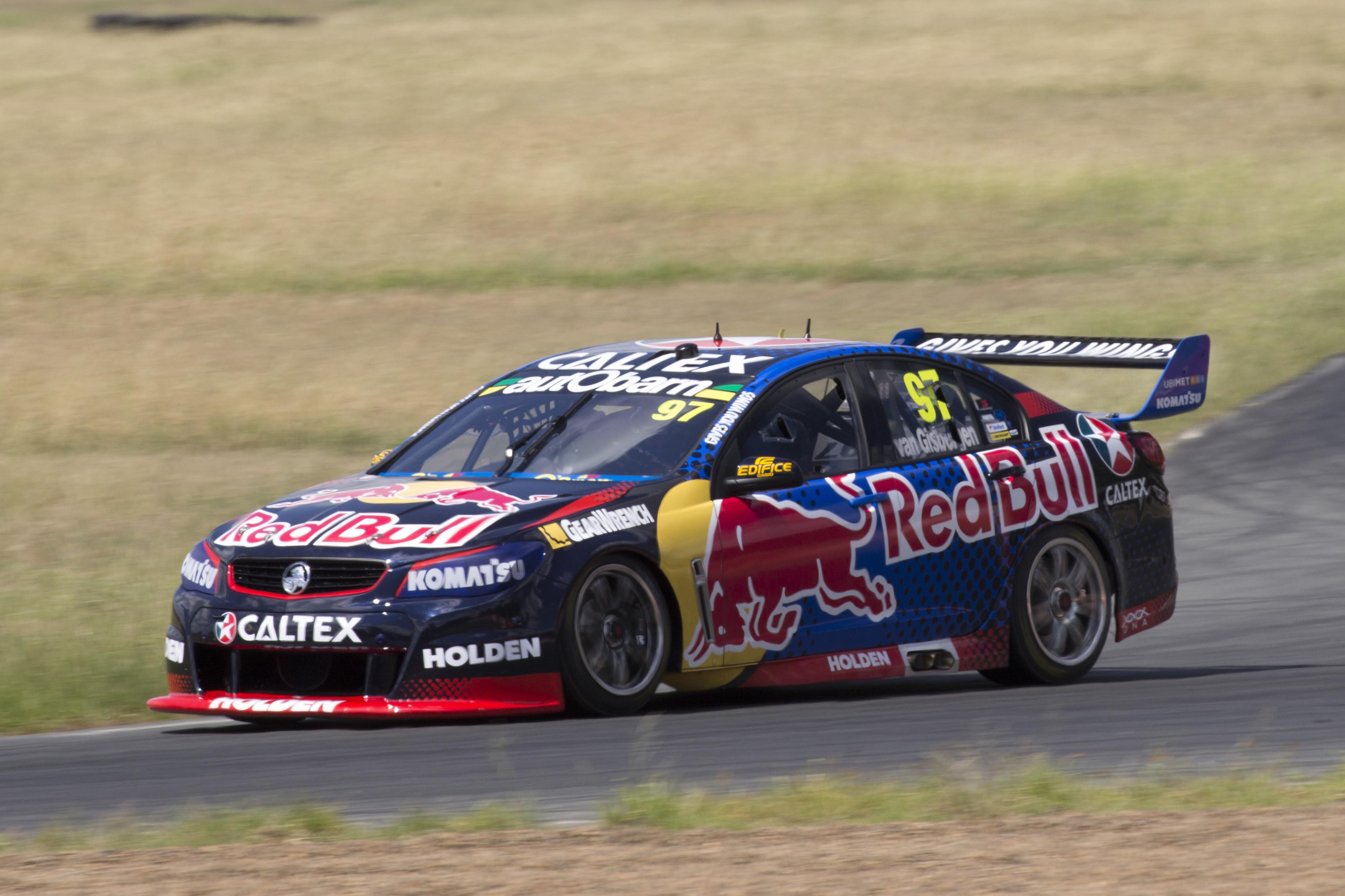 Shane Van gisbergen during testing today at Queensland Raceway west of Brisbane  Australia, February 18, 2016.