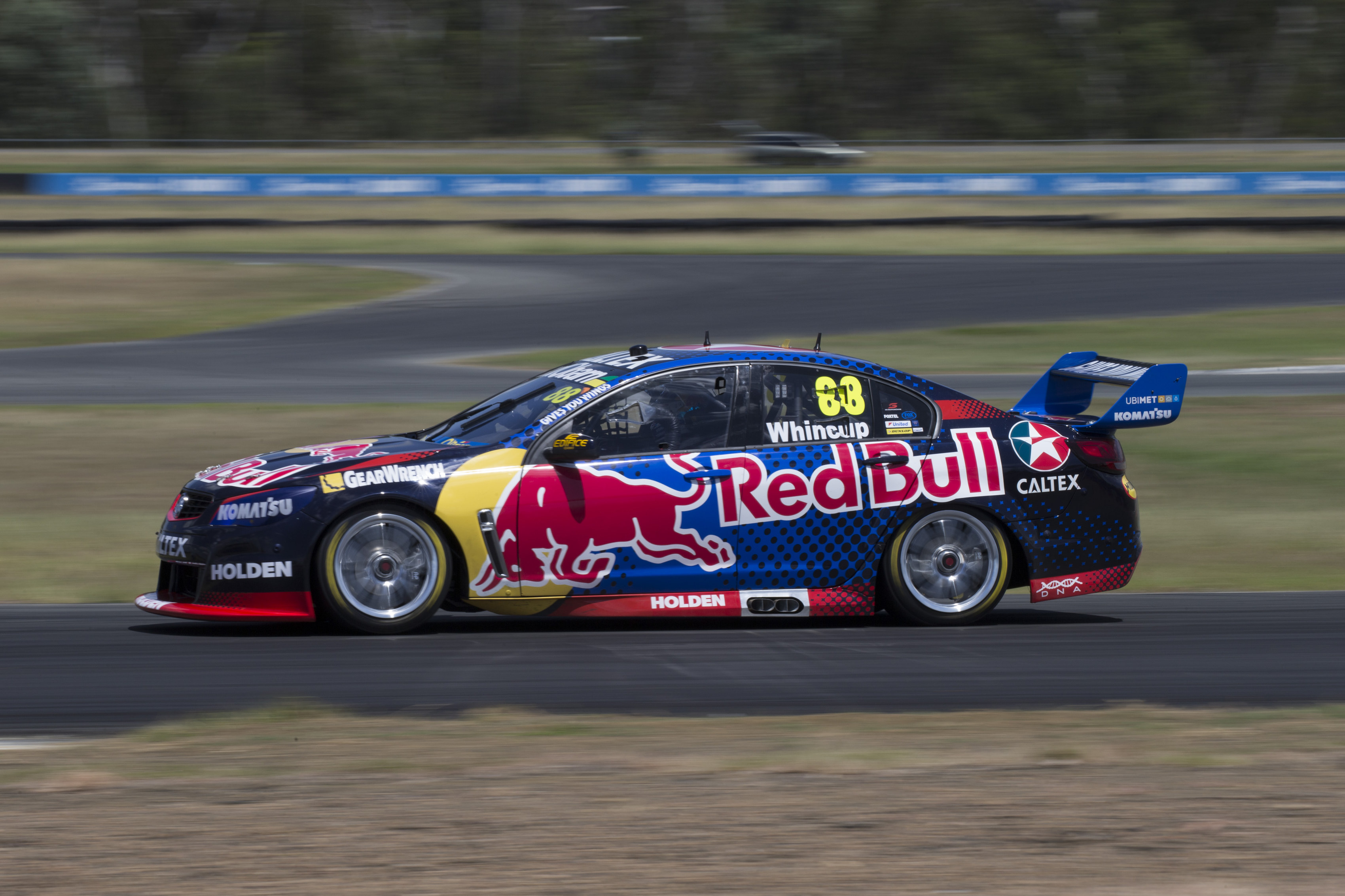 Jamie Whincup during testing today at Queensland Raceway west of Brisbane  Australia, February 18, 2016.