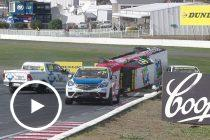 Wild SuperUtes rollover at Winton