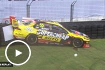 Mostert bounces off the wall
