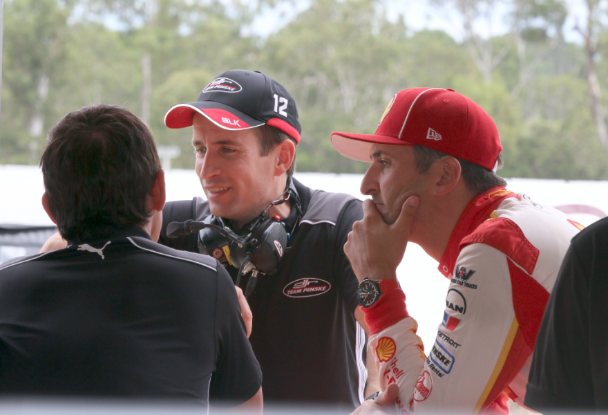 Fenning, centre, at Queensland Raceway