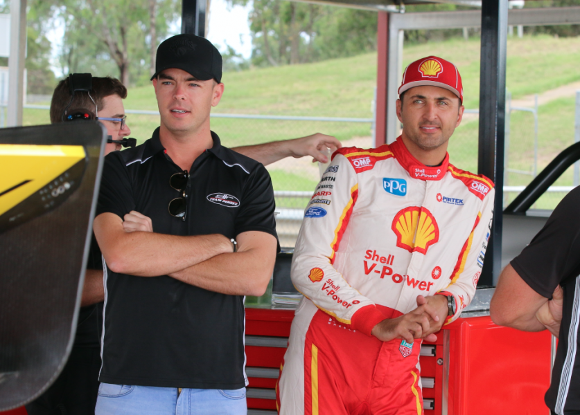 McLaughlin joined Coulthard at the shakedown