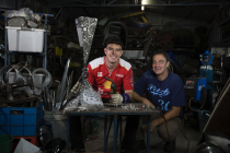 McLaughlin lends hand to PIRTEK trophy build