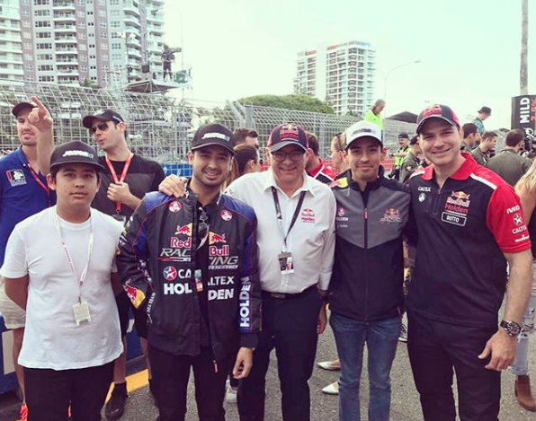 Tunku AR, second from right, at the 2017 Gold Coast 600
