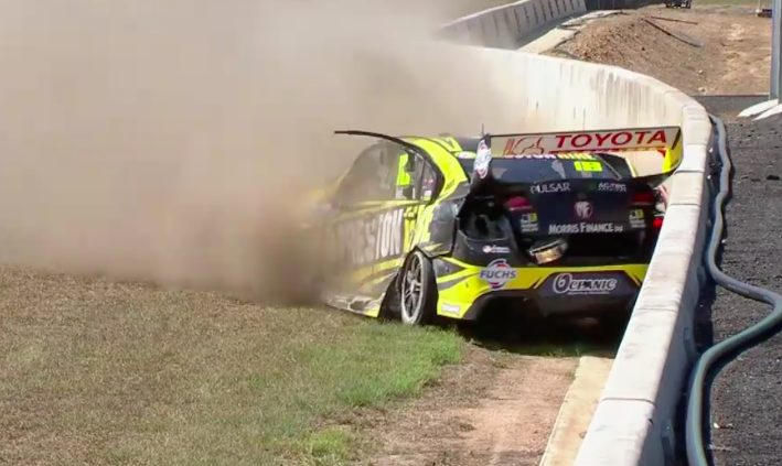 Holdsworth made heavy contact with the concrete