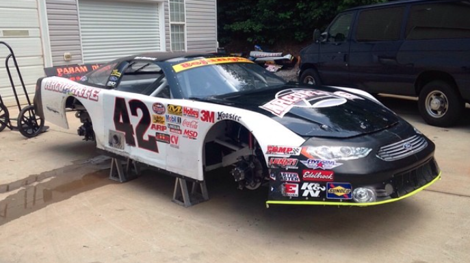 Kostecki ran #42 on his NASCAR Late Model