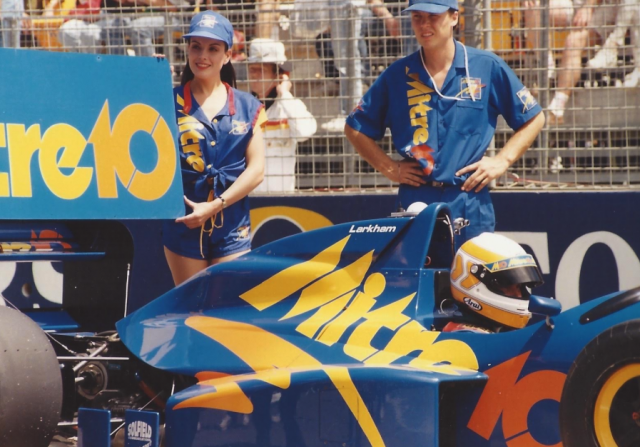 Michael working with Larkham at the 1993 Australian Grand Prix