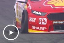 McLaughlin's Practice 1 tyre failure