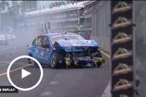 Coulthard and Tander collide on the Gold Coast