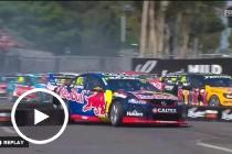 Van Gisbergen drops down the field at the race start