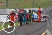 Bright crash brings out the red flag