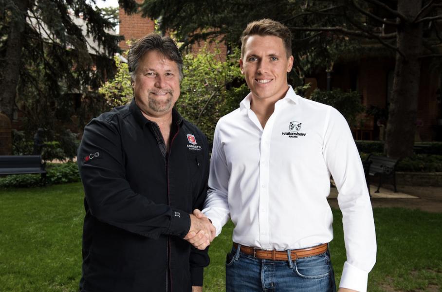 Andretti, left, with Ryan Walkinshaw
