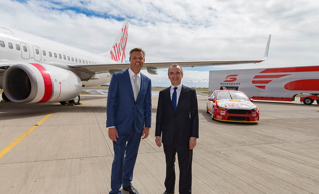 Warburton and Virgin Australia's John Borghetti
