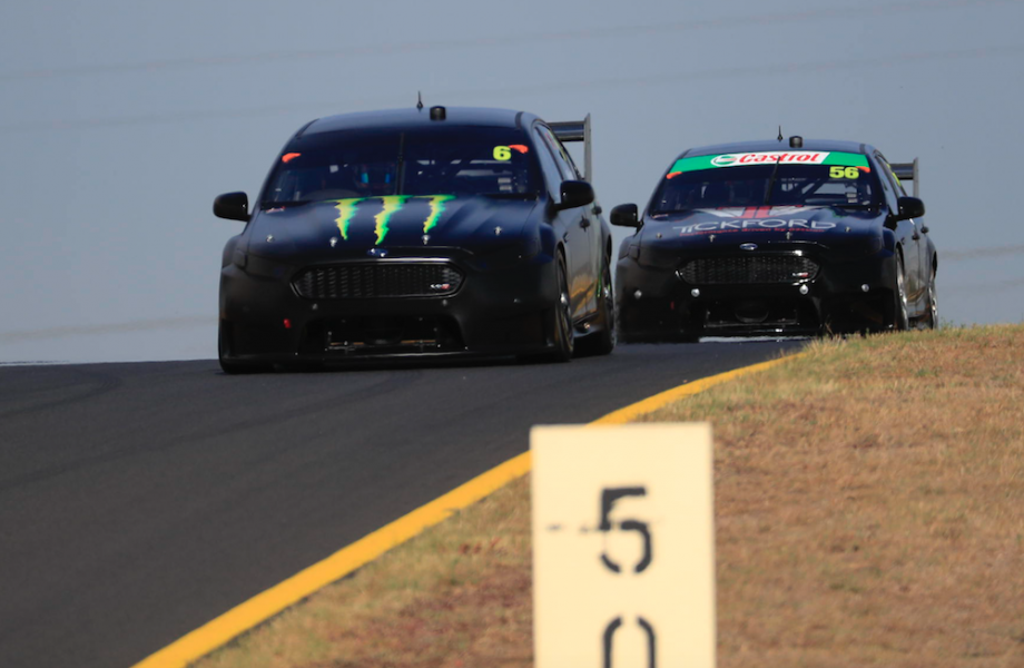 Waters and Stanaway at the Sydney test