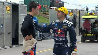 Percat's question to Whincup after clash