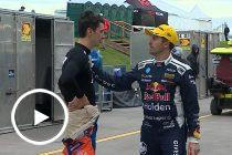 Whincup speaks to Percat, stops for selfie